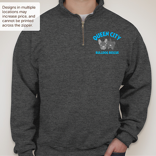 Quarter Zip Sweatshirt Queen City Bulldog Rescue